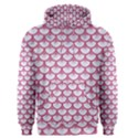 SCALES3 WHITE MARBLE & PINK DENIM (R) Men s Pullover Hoodie View1