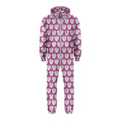 SCALES3 WHITE MARBLE & PINK DENIM (R) Hooded Jumpsuit (Kids)