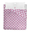 SCALES3 WHITE MARBLE & PINK DENIM (R) Duvet Cover Double Side (Full/ Double Size) View1