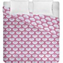 SCALES3 WHITE MARBLE & PINK DENIM (R) Duvet Cover Double Side (King Size) View1