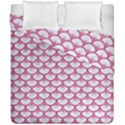 SCALES3 WHITE MARBLE & PINK DENIM (R) Duvet Cover Double Side (California King Size) View1