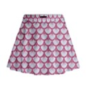 SCALES3 WHITE MARBLE & PINK DENIM (R) Mini Flare Skirt View1