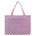 SCALES3 WHITE MARBLE & PINK DENIM (R) Medium Tote Bag View1