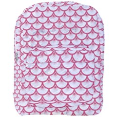 SCALES3 WHITE MARBLE & PINK DENIM (R) Full Print Backpack