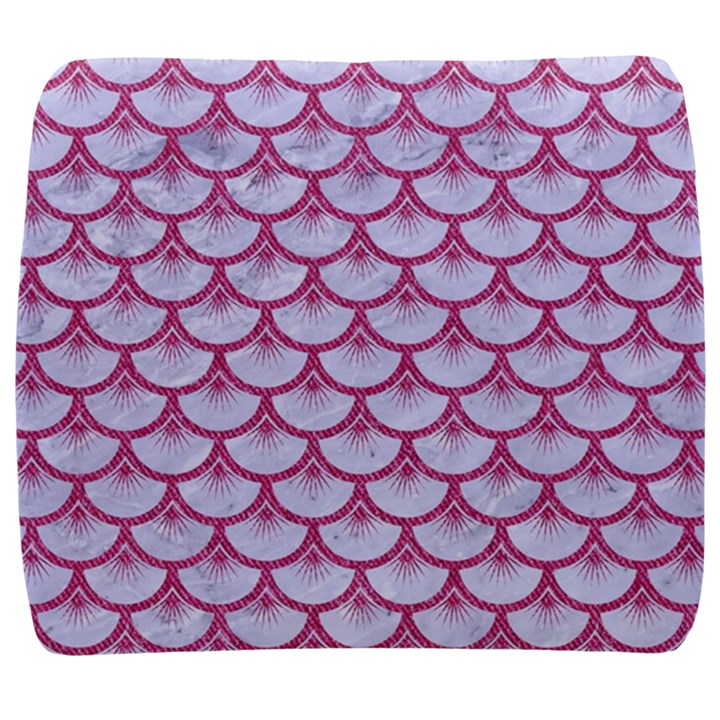 SCALES3 WHITE MARBLE & PINK DENIM (R) Back Support Cushion