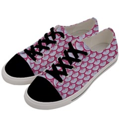 SCALES3 WHITE MARBLE & PINK DENIM (R) Men s Low Top Canvas Sneakers