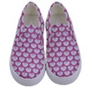 SCALES3 WHITE MARBLE & PINK DENIM (R) Kids  Canvas Slip Ons View1