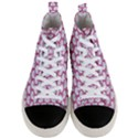 SCALES3 WHITE MARBLE & PINK DENIM (R) Men s Mid-Top Canvas Sneakers View1