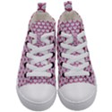 SCALES3 WHITE MARBLE & PINK DENIM (R) Kid s Mid-Top Canvas Sneakers View1