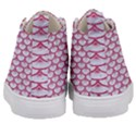 SCALES3 WHITE MARBLE & PINK DENIM (R) Kid s Mid-Top Canvas Sneakers View4