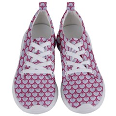Scales3 White Marble & Pink Denim (r) Women s Lightweight Sports Shoes