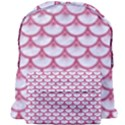 SCALES3 WHITE MARBLE & PINK DENIM (R) Giant Full Print Backpack View1