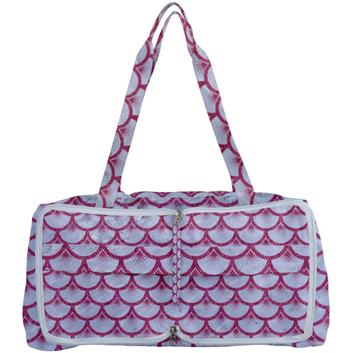 SCALES3 WHITE MARBLE & PINK DENIM (R) Multi Function Bag
