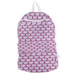 SCALES3 WHITE MARBLE & PINK DENIM (R) Foldable Lightweight Backpack
