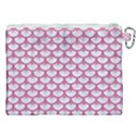 SCALES3 WHITE MARBLE & PINK DENIM (R) Canvas Cosmetic Bag (XXL) View2