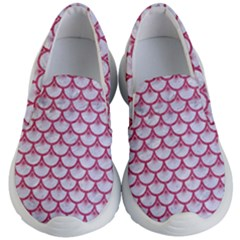 Scales3 White Marble & Pink Denim (r) Kid s Lightweight Slip Ons