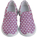 SCALES3 WHITE MARBLE & PINK DENIM (R) Kid s Lightweight Slip Ons View1