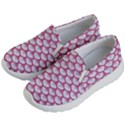 SCALES3 WHITE MARBLE & PINK DENIM (R) Kid s Lightweight Slip Ons View2