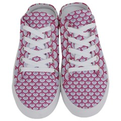 SCALES3 WHITE MARBLE & PINK DENIM (R) Half Slippers