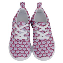 SCALES3 WHITE MARBLE & PINK DENIM (R) Running Shoes