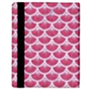 SCALES3 WHITE MARBLE & PINK DENIM Apple iPad 2 Flip Case View3
