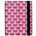 SCALES3 WHITE MARBLE & PINK DENIM Apple iPad 3/4 Flip Case View2