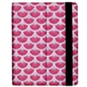 SCALES3 WHITE MARBLE & PINK DENIM Apple iPad Mini Flip Case View2