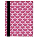 SCALES3 WHITE MARBLE & PINK DENIM Apple iPad Mini Flip Case View3