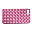 SCALES3 WHITE MARBLE & PINK DENIM Apple iPhone 4/4S Hardshell Case with Stand View1