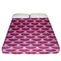 SCALES3 WHITE MARBLE & PINK DENIM Fitted Sheet (King Size) View1
