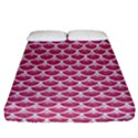 SCALES3 WHITE MARBLE & PINK DENIM Fitted Sheet (California King Size) View1