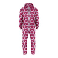 Scales3 White Marble & Pink Denim Hooded Jumpsuit (kids)
