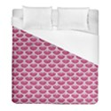 SCALES3 WHITE MARBLE & PINK DENIM Duvet Cover (Full/ Double Size) View1
