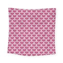 SCALES3 WHITE MARBLE & PINK DENIM Square Tapestry (Small) View1