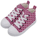 SCALES3 WHITE MARBLE & PINK DENIM Kid s Mid-Top Canvas Sneakers View2