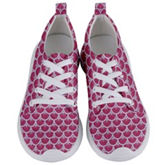 Scales3 White Marble & Pink Denim Women s Lightweight Sports Shoes