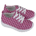 SCALES3 WHITE MARBLE & PINK DENIM Kids  Lightweight Sports Shoes View3