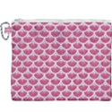 SCALES3 WHITE MARBLE & PINK DENIM Canvas Cosmetic Bag (XXXL) View1