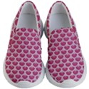 SCALES3 WHITE MARBLE & PINK DENIM Kid s Lightweight Slip Ons View1