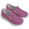 SCALES3 WHITE MARBLE & PINK DENIM Kid s Lightweight Slip Ons View3