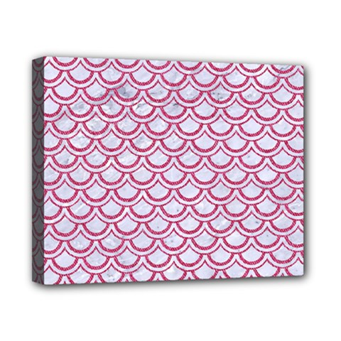 Scales2 White Marble & Pink Denim (r) Canvas 10  X 8