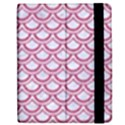 SCALES2 WHITE MARBLE & PINK DENIM (R) Apple iPad 3/4 Flip Case View2