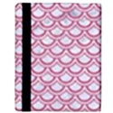 SCALES2 WHITE MARBLE & PINK DENIM (R) Apple iPad 3/4 Flip Case View3