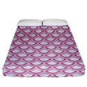 SCALES2 WHITE MARBLE & PINK DENIM (R) Fitted Sheet (Queen Size) View1