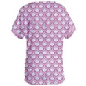 SCALES2 WHITE MARBLE & PINK DENIM (R) Women s Oversized Tee View2