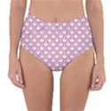 SCALES2 WHITE MARBLE & PINK DENIM (R) Reversible High-Waist Bikini Bottoms View1