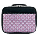 SCALES2 WHITE MARBLE & PINK DENIM (R) Lunch Bag View1