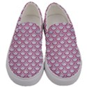 SCALES2 WHITE MARBLE & PINK DENIM (R) Men s Canvas Slip Ons View1