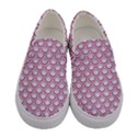 SCALES2 WHITE MARBLE & PINK DENIM (R) Women s Canvas Slip Ons View1