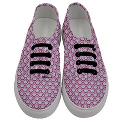 Scales2 White Marble & Pink Denim (r) Men s Classic Low Top Sneakers